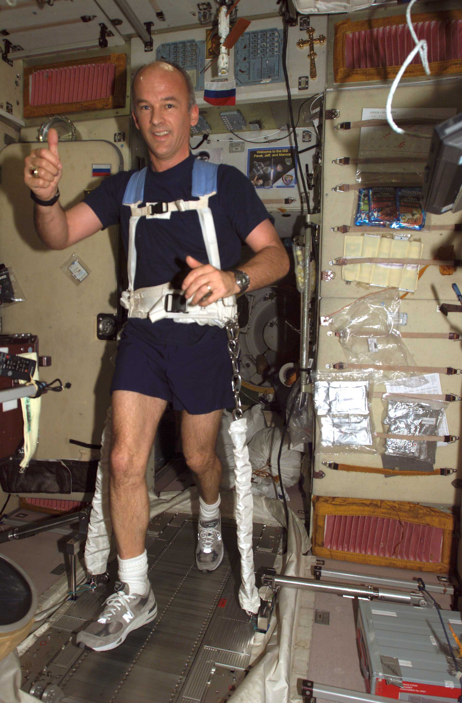 how astronauts exercise in space - photo #11